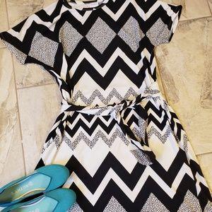 Black and White Lularoe Marly dress